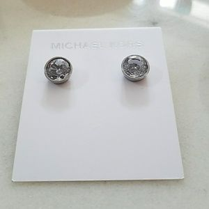 NWT Lux Pave Crystal Silver EARRINGS